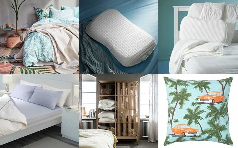 IKEA特別在夏季推出涼感寢具,頗受好評!另外還能利用清爽色系與材質製造家居降溫感。(圖/IKEA)