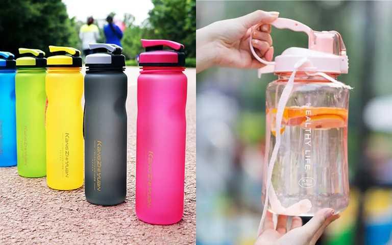 為了要喝到達標水量,Sandy都會備妥超大容量的水壺,每天提醒自己要喝完。(圖/翻攝網路)