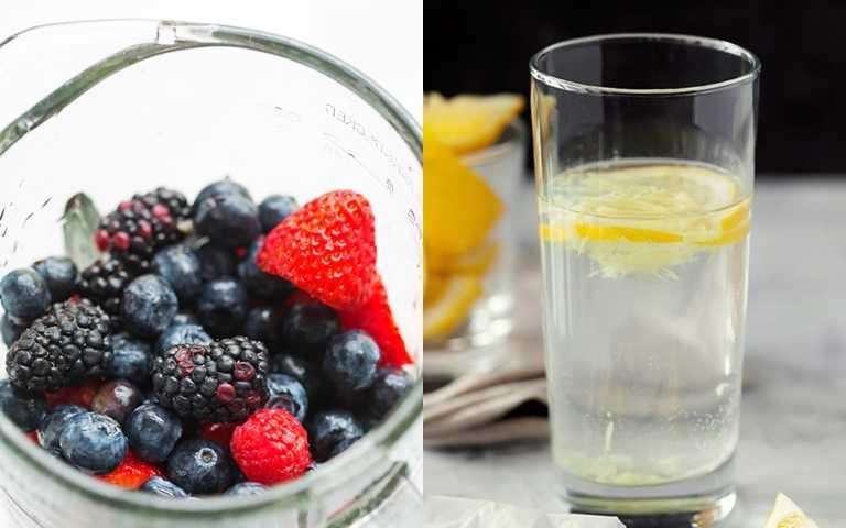 可增添風味的檸檬片、莓果加到水裡,讓喝水變成一件快樂的事。(圖/翻攝網路)