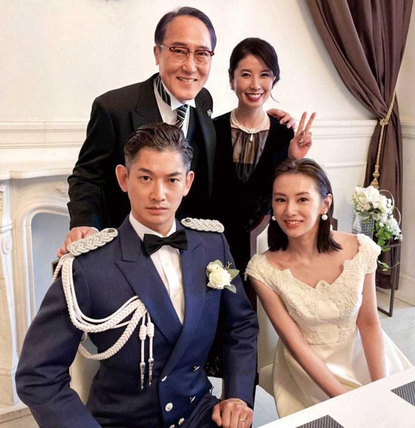 飾演北川景子父親的佐野史郎(上左),因腎功能衰竭緊急入院治療,導致《離婚活動》第4集起將換人演出。(圖/翻攝《離婚活動》推特)
