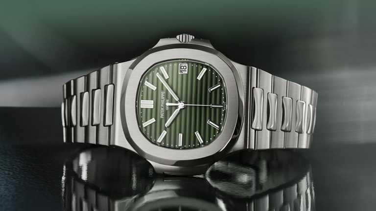 PATEK PHILILPPE「Nautilus金鷹」系列腕錶(編號5711/1A-014),40mm,不鏽鋼錶殼,26-330 S C型自動上鏈機芯╱1,018,000元。(圖╱PATEK PHILILPPE提供)