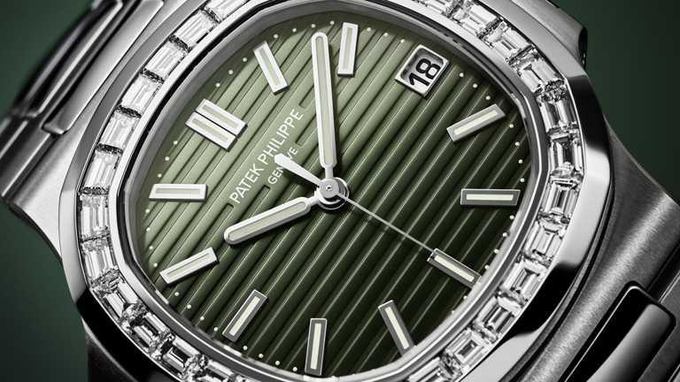 PATEK PHILILPPE「Nautilus金鷹」系列腕錶(編號5711/1300A-001),40mm,不鏽鋼錶殼,26-330 S C型自動上鏈機芯,鑽石32顆╱2,760,000元。(圖╱PATEK PHILILPPE提供)