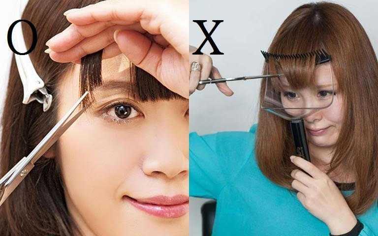 角度一定要平視,千萬別低著頭剪。(圖/翻攝網路)