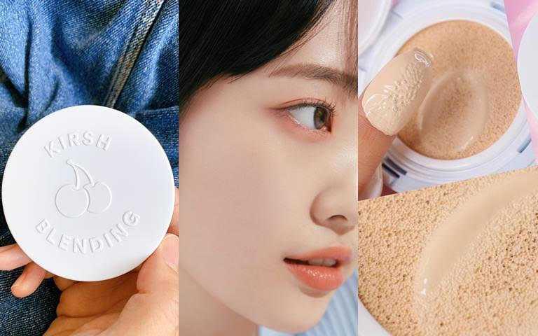 KIRSH BLENDING牛奶肌蓬鬆氣墊粉餅/928元  含有玻尿酸5-10倍保溼成分,帶給肌膚清涼感和舒適感。(圖/吳雅鈴攝影、品牌提供)