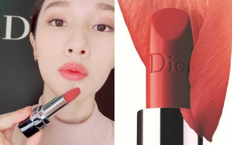 Dior 迪奧藍星精華唇膏#525 3.5g /1,300元(圖/黃筱婷攝影)