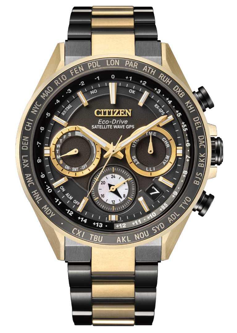 CITIZEN「光動能GPS衛星對時」腕錶,「HAKUTO-R」限定款(型號CC4016-75E)╱鈦金屬錶殼,44.3mm,76,800元。(圖╱CITIZEN提供)