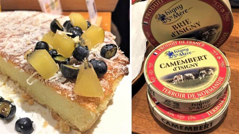 ▲左:FB solution甜點食材。右:Isigny Ste-Mère乳製品。(攝影/楊麗雯)