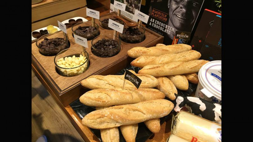 ▲越來越多法國食材食品來台,提供高貴不貴家庭三餐選擇。(攝影/楊麗雯)