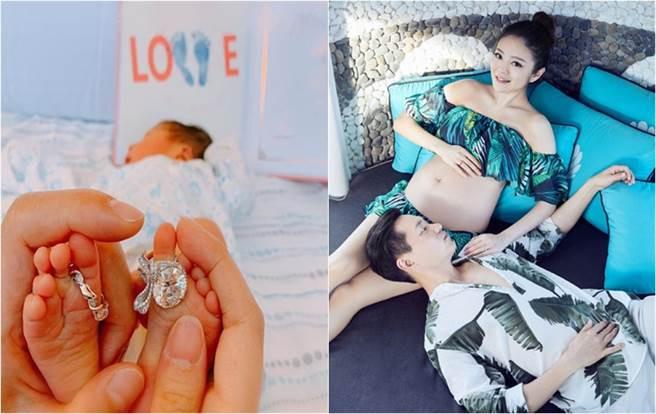 安以軒今天(18日)上午透過微博分享生子喜訊,宣布已生下寶貝兒子66,正式升格當媽。(圖/翻攝自微博)