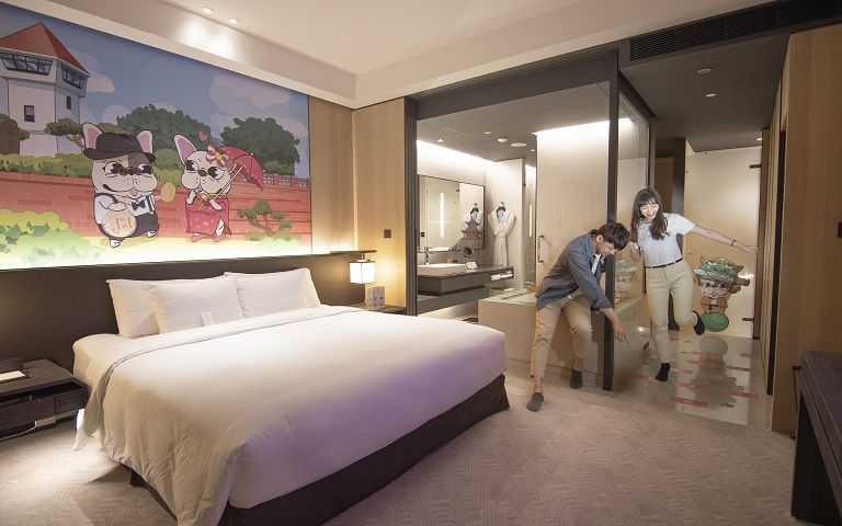 台南大員皇冠假日酒店 法鬥主題房。