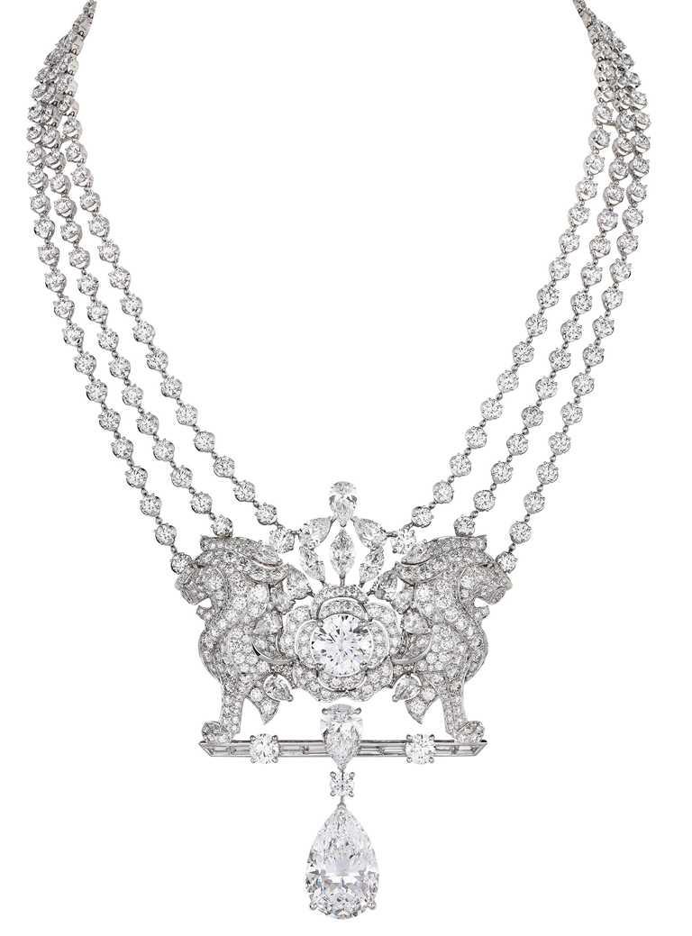 CHANEL「Escale à Venise」系列頂級珠寶,「Lion Secret Diamant」可拆卸式項鍊╱184,787,000元。(圖╱CHANEL提供)