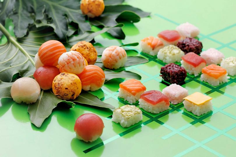 「棋盤壽司」造型可愛,手機先吃再說!