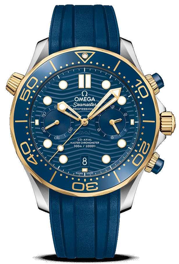OMEGA「Seamaster海馬」系列,潛水300米同軸擒縱大師天文台計時腕錶,44mm,精鋼與18K黃金錶殼╱326,000元。(圖╱OMEGA提供)