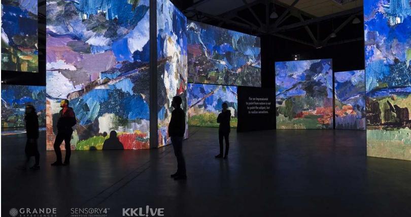 塞尚(Paul Cézanne)作品呈現示意圖。(圖/KKLIVE提供)