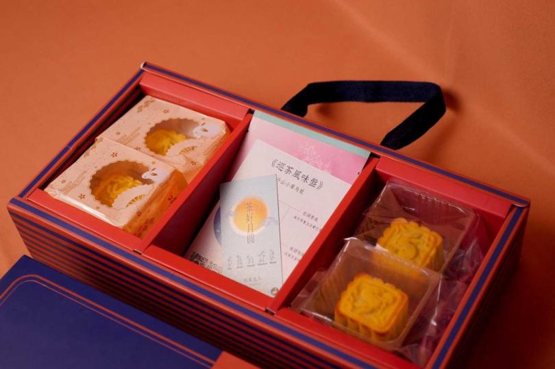 糕菲庇護工場推出月餅結合茶飲的禮盒。(圖/糕菲庇護工場提供)