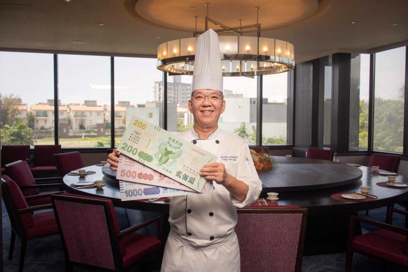 飯店推出「餐飲滿千送200」活動。(圖/台南大員皇冠假日酒店提供)