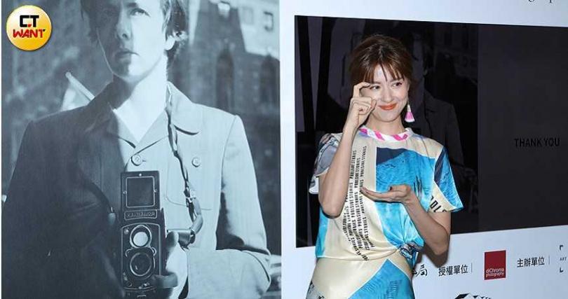 原就熱愛攝影的林予晞希望今年能再舉辦一次攝影展。(攝影/施岳呈)