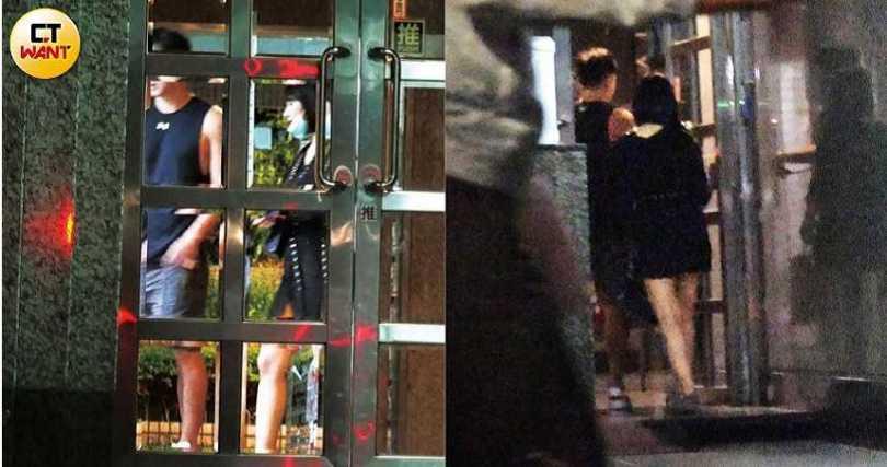 6月3日小煜又被本刊捕捉到在石頭火鍋店約會短髮正妹。(圖/本刊攝影組)