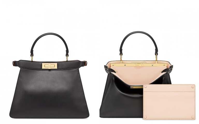造型的重點包是這咖>>FENDI PEEKABOO ISEEU MEDIUM黑色包款/146,000元(圖/品牌提供)