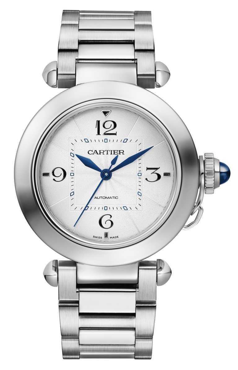 CARTIER「Pasha de Cartier」系列腕錶,精鋼錶殼,41mm,1847 MC型自動上鏈機芯╱206,000元。(圖╱CARTIER提供)