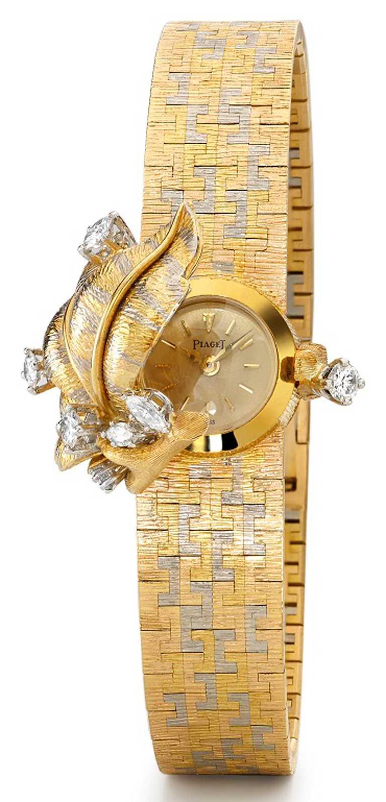 PIAGET伯爵1963年作品,為一款搭載「6N手動上鍊機芯」的神秘腕錶。(圖╱PIAGET提供)