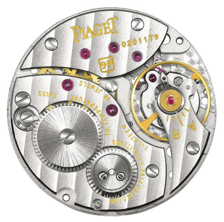 伯爵於1957年推出的「9P手動上鍊機芯」,開啟超薄製錶的革命時代。(圖╱PIAGET提供)