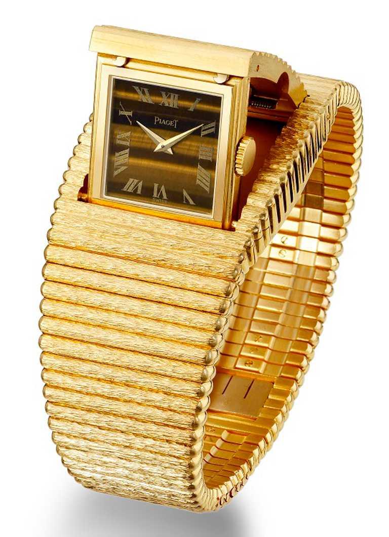 PIAGET伯爵1972年作品,為一款搭載「9P手動上鍊機芯」的神秘腕錶。(圖╱PIAGET提供)