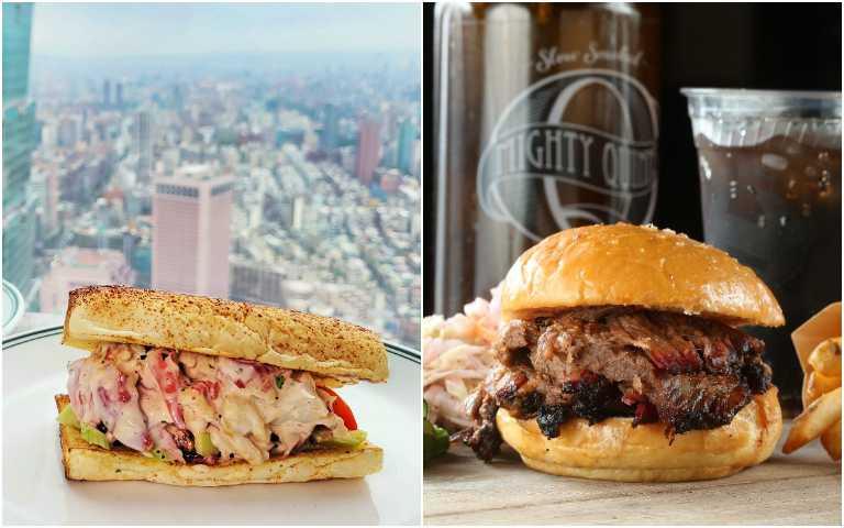 牛胸肉漢堡(右)、龍蝦堡。(圖/有趣市集提供)