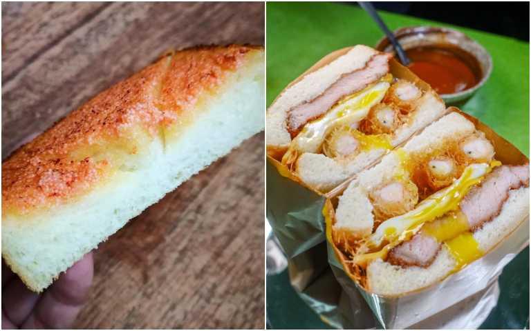 黃金蠶絲蝦雙拼(右)、明太子厚片。(圖/有趣市集提供)