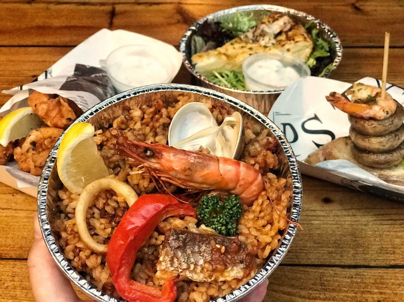 西班牙海鮮大鍋飯。(圖/有趣市集提供)