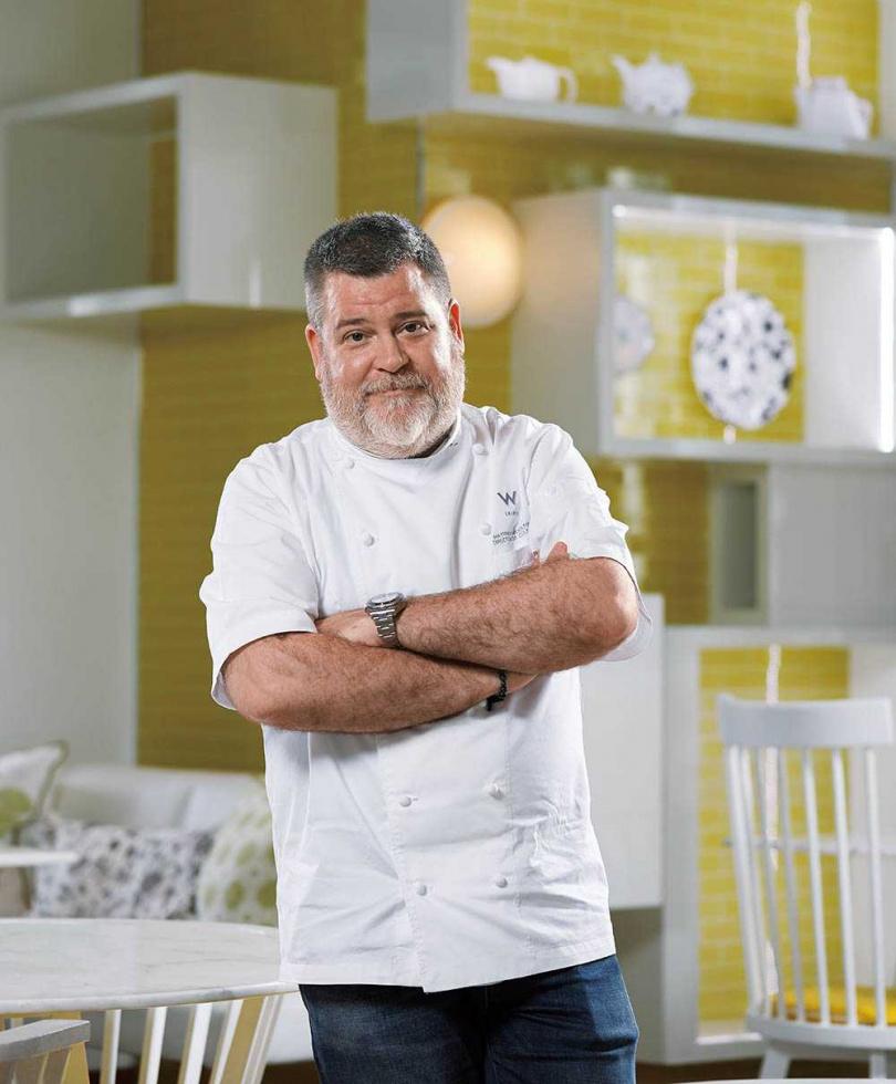 來自澳洲雪梨的廚藝總監伍福德,最為擅長無國界料理。(圖/于魯光攝)