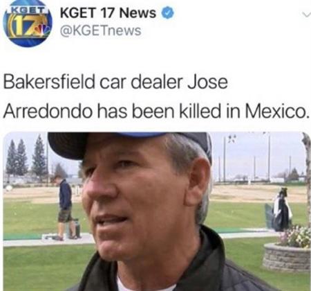 金Samuel的父親在墨西哥遇害身亡。(圖/翻攝自KGET 17 NEWS)