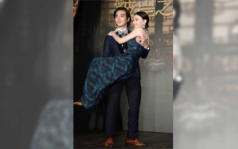 林路迪、紀培慧劇中飾演未婚夫妻。(圖/彭子桓攝影)