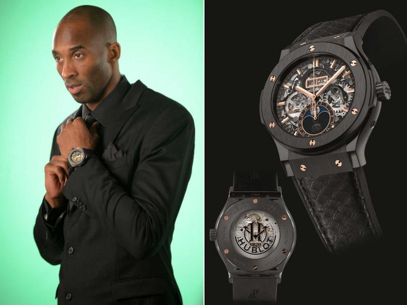 2013年3月」20日,Kobe Bryant正式成為HUBLOT全球品牌大使,首款HUBLOT「King Power Black Mamba」黑曼巴限量腕錶登場。(圖片提供╱HUBLOT)