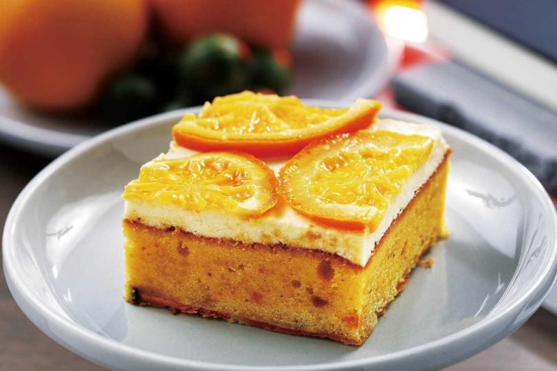 蛋糕體扎實的「南瓜地瓜乳酪」,吃得到南瓜顆粒。(170元)(圖/于魯光攝)