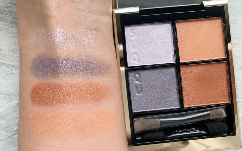 #101春雲的春季限定色,以暖橘色搭配灰紫色很有時尚感。(圖/吳雅鈴攝影)