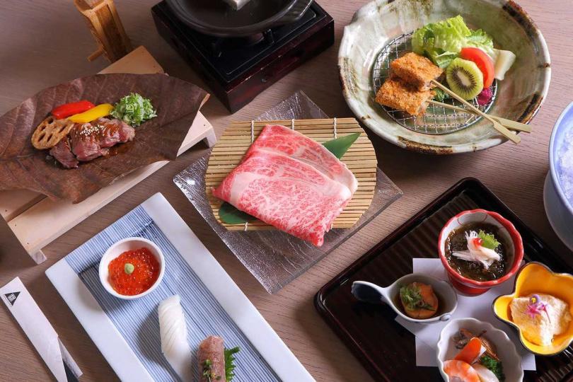 中山日本廳推出期間限定的日本和牛個人套餐,菜色相當豐富。(圖/台北老爺)