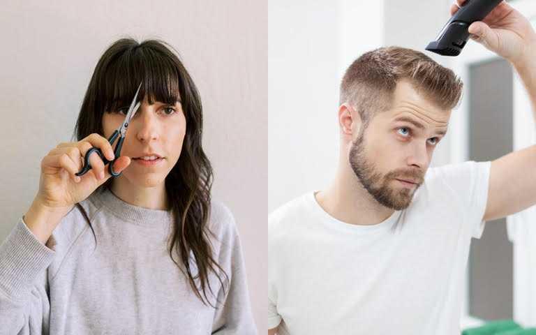 除了女生的瀏海之外,通常男生一個月也要剪一次頭髮,這時候就要趕快上線報名男生專屬的「電推男剪不失誤」技能課程,才不會頭髮一長看起來很沒精神。(圖/翻攝網路)