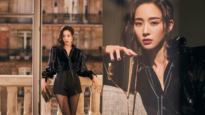 張鈞甯穿著SAINT LAURENT 2019秋冬秀款搭配Kate Box包。(圖/品牌提供)