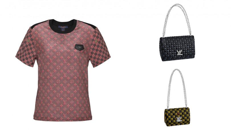 全球獨賣LV Pop T-Shirt/25,000元、Twist MM手袋/137,000元、Twist BB手袋/124,000元。 (圖/品牌提供)