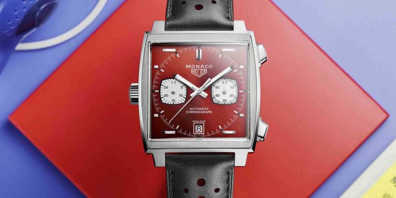 TAG Heuer Monaco 50周年限量典藏版╱定價:215,400元(圖片提供╱TAG Heuer)