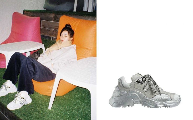 Red Velved瑟琪私服穿搭也是選擇Billy Sneakers;N°21 Billy Sneakers亮片款 By MINOSHIN/23,900元(圖/翻攝自藝人IG、品牌提供)