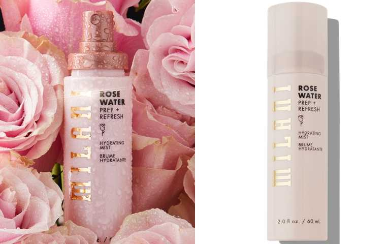 Milani玫瑰水潤保濕噴霧 60ml/480元妝前噴可以增加保濕度,妝後噴則可有定妝效果。(圖/品牌提供)