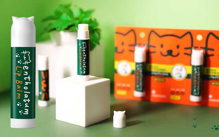 曼秀雷敦薄荷修護潤唇膏貓耳限定版3.5g/NT120。(圖/曼秀雷敦提供)