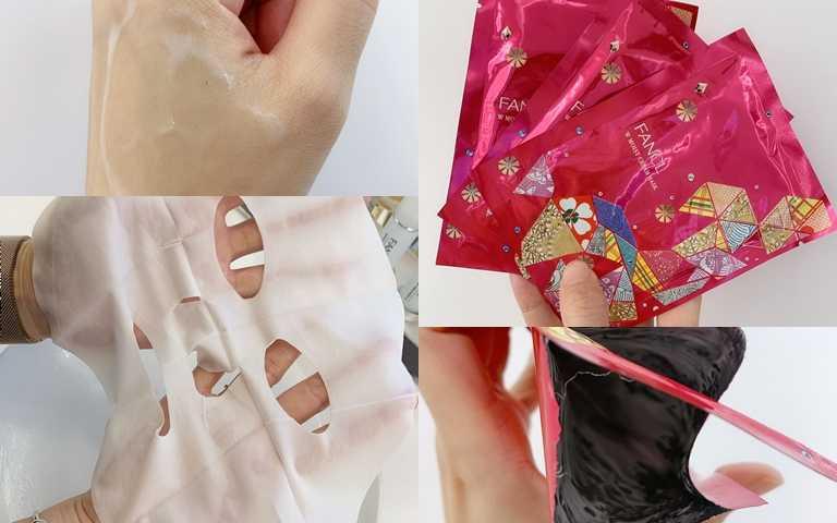 觸感厚實又絲柔的面膜,一片就承載著多達20ml的精華乳霜,而且撕開包裝後你會發現袋子裡幾乎沒有殘餘的乳霜,就代表營養真的都跑到面膜上了!這樣敷才會有效果阿。(圖/吳雅鈴攝影)