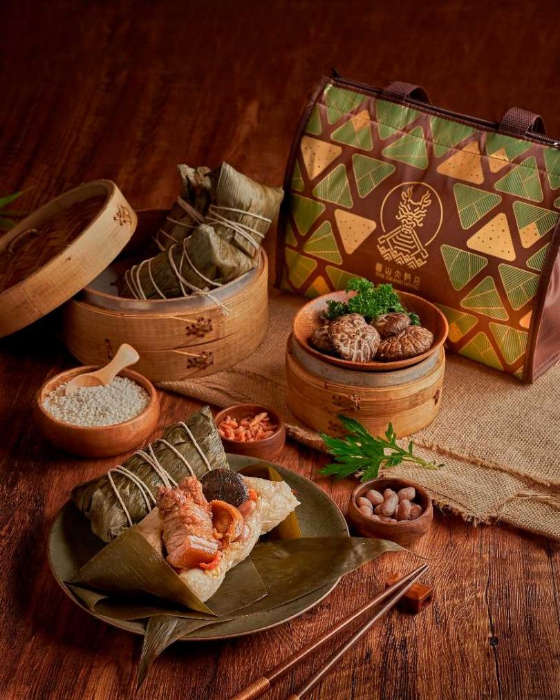 「東坡肉粽禮袋」5入裝。(980元,圖/圓山大飯店提供)