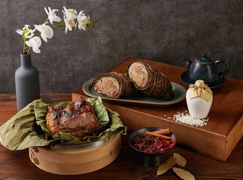 「杭風雙喜粽禮盒」。(1,980元,圖/麗緻餐旅集團提供)