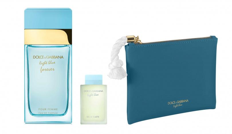 DOLCE & GABBANA Light Blue詠愛女性淡香精 100ml/3,650元  現在入手再加贈Light Blue女香4.5ml&湛藍棉繩化妝包。(圖/品牌提供)