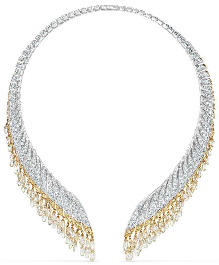 DE BEERS「Reflections of Nature」系列高級珠寶,Namib Wonder鑽石項鍊。(圖╱DE BEERS提供)