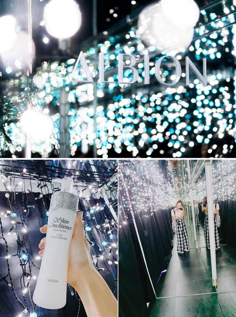 透過燈泡、鏡片所設計出的無限延伸燈海效果,實在好美。